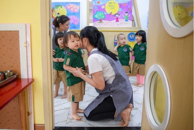 Học sinh mầm non tại Hà Nội. (Ảnh qua Zing)