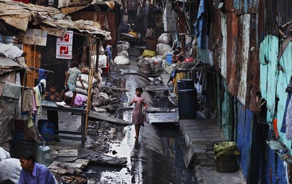 Khu ổ chuột tại Ấn Độ.