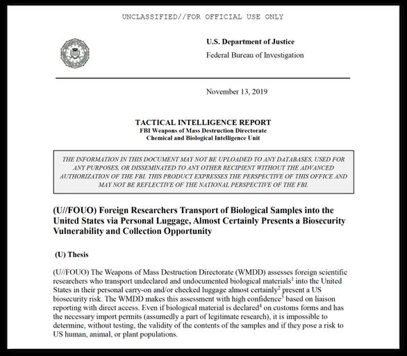 Mỹ từng phát hiện một người Trung Quốc nhập cảnh mang theo lọ nghi chứa virus SARS, MERS - anh 2