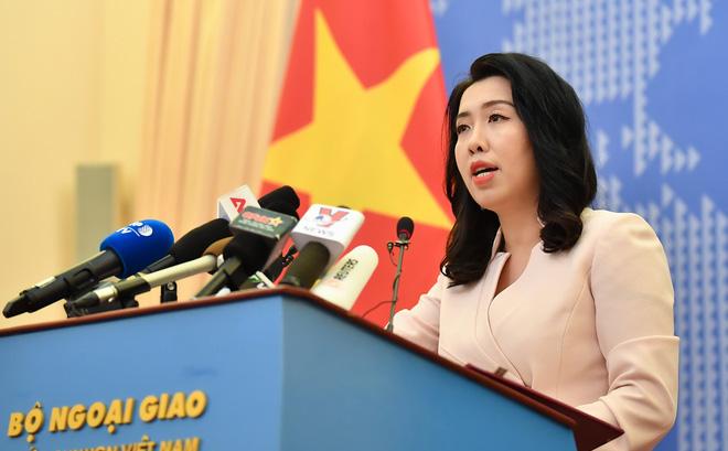 Người Phát ngôn Bộ Ngoại giao Việt Nam Lê Thị Thu Hằng. (Ảnh qua toquoc)
