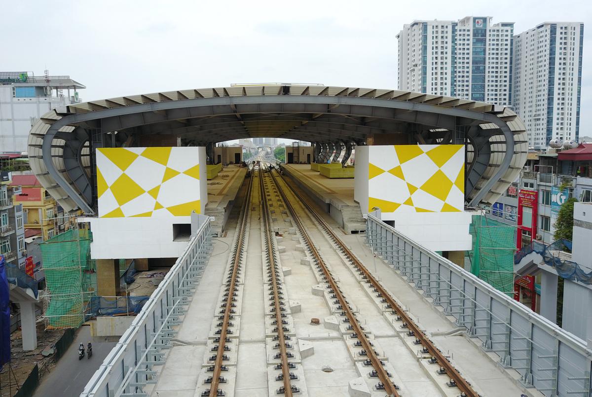 Nhà ga đường sắt Cát Linh - Hà Đông (Hà Nội). (Ảnh qua vnexpress)