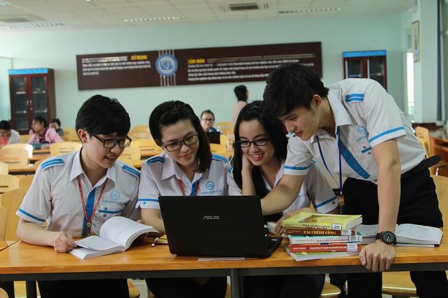 Sinh viên Trường ĐH Kinh tế - Luật (ĐH Quốc gia TP.HCM). (Ảnh qua thanhnien)