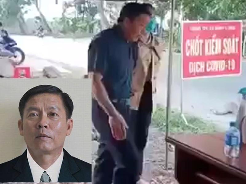 Phó chủ tịch HĐND huyện Hớn Quản (Bình Dương) chống đối kiểm dịch. (Ảnh qua vnexpress)
