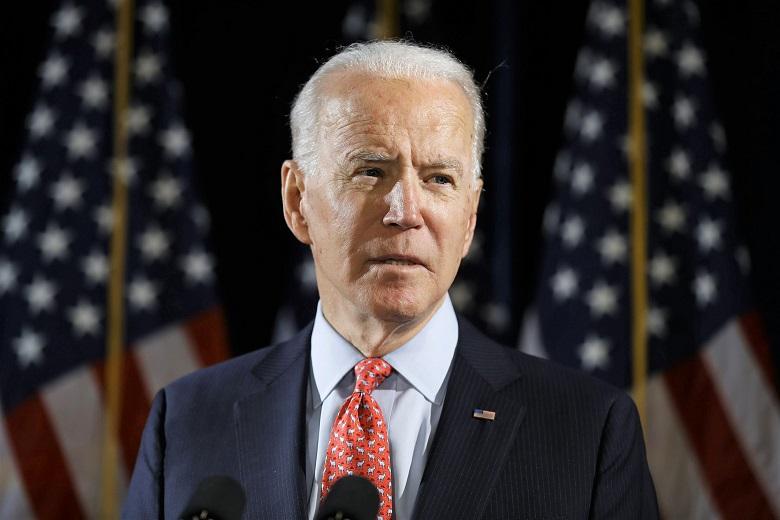 Ứng cử viên tổng thống của đảng Dân chủ, cựu Phó Tổng thống Joe Biden trong bài phát biểu về virus coron tại Wilmington ngày12/3/2020.