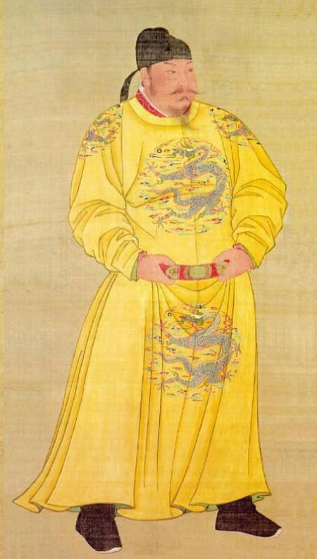 Chân dung hoàng đế Đường Thái Tông, phổ màu trên tranh lụa, bảo vật cổ của Nam Huân Điện – Cố Cung, Bắc Kinh nay được cất giữ tại bảo tàng Cố Cung, Đài Bắc.