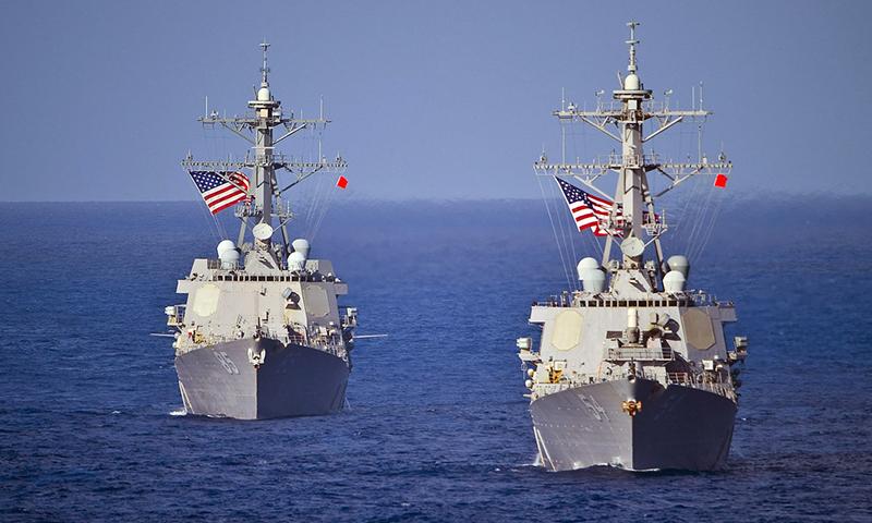 Tàu chiến Mỹ qua eo biển Đài Loan ngay trước lễ nhậm chức của TT Thái Anh Văn