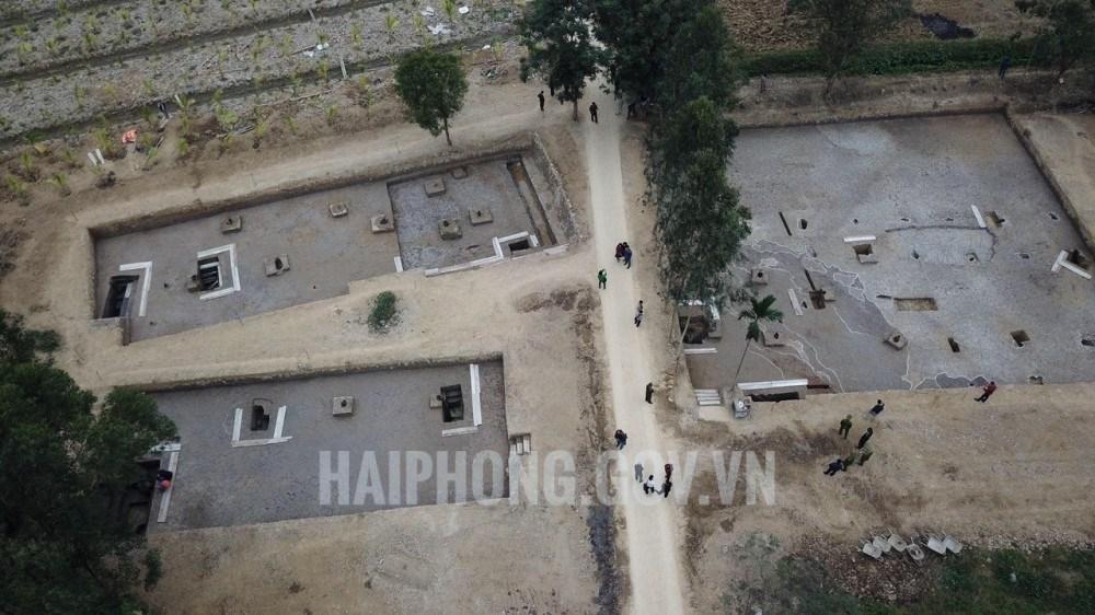 Khu bãi cọc Cao Quỳ nhìn từ trên cao. (Ảnh qua haiphong)