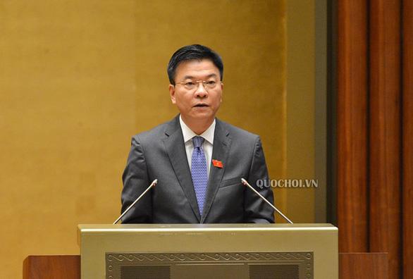 Bộ trưởng Bộ Tư pháp Lê Thành Long. (Ảnh qua quochoi)