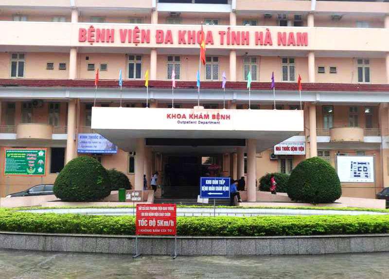 Bệnh viện Đa khoa tỉnh Hà Nam, nơi bệnh nhân 251 được điều trị bệnh xơ gan. (Ảnh qua nld)