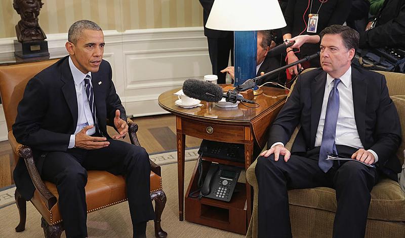 Cựu Giám đốc FBI James Comey và Cựu Tổng thống Barack Obama đã thảo luận về các cuộc gọi bị chặn giữa Trung tướng Michael Flynn và đại sứ Nga.