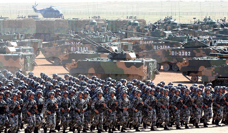 quân đội hùng hậu của Trung Quốc đã tập kết ở biên giới Trung-Ấn