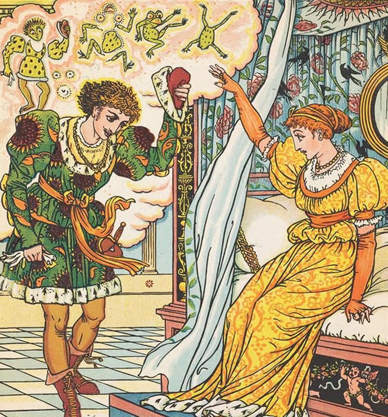Bằng cách lấy lại tinh thần và dũng khí, hoàng tử đã tự hóa giải được lời nguyền của cóc tinh và trở lại thân phận của mình.