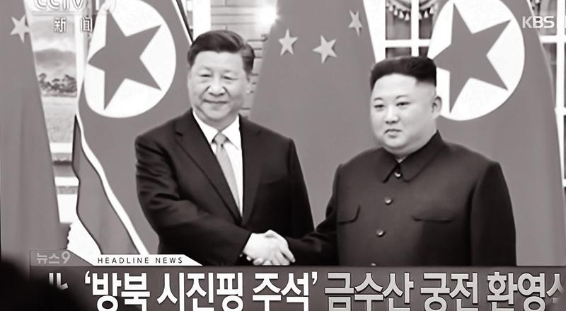 Ông Tập Cận Bình và Ông Kim Jong Un tại cuộc gặp ở Bình Nhưỡng vào tháng 6/2019.