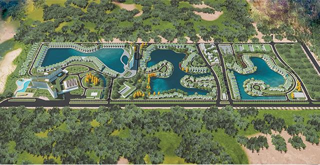 Phối cảnh dự án Khu Du lịch sinh thái Ngôi sao - Lucky Star Resort. (Ảnh qua dantri)