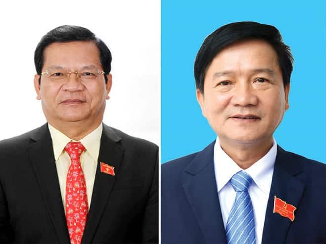 Ông Lê Viết Chữ (trái) và ông Trần Ngọc Căng (phải). (Ảnh qua thanhnien)