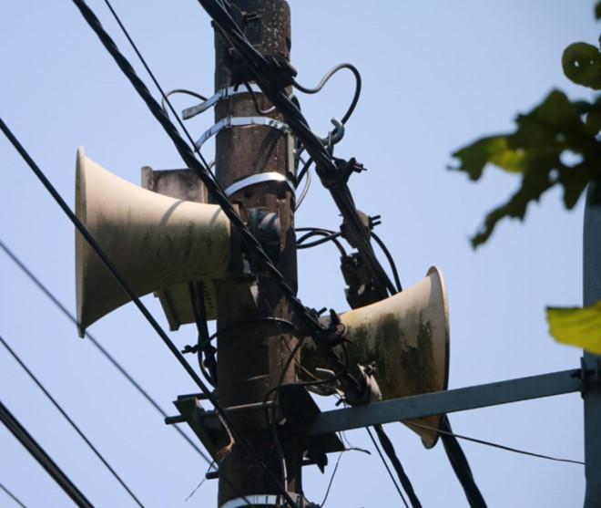 Hệ thống loa phát thanh vô tuyến tại xã Phú Mậu, H.Phú Vang, 'nhiễu sóng', phát tiếng Trung Quốc. (Ảnh qua thanhnien)
