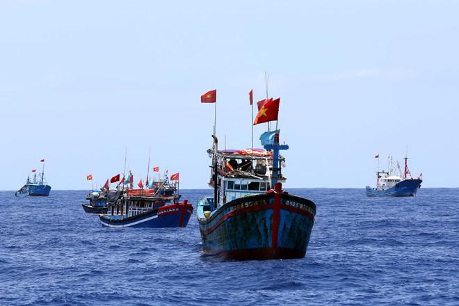 Ngư dân Việt Nam  đánh bắt ở ngư trường Hoàng Sa (Việt Nam). (Ảnh qua thanhnien)