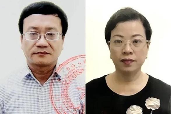 Bị cáo Nguyễn Quang Vinh và Diệp Thị Hồng Liên. (Ảnh qua tuoitre)