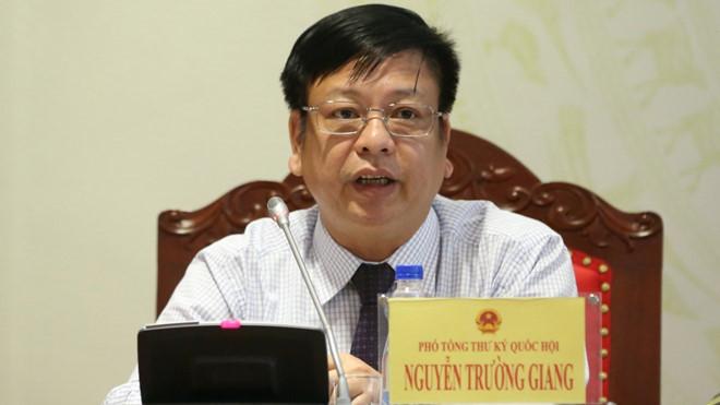 Ông Nguyễn Trường Giang, Phó tổng thư ký Quốc hội. (Ảnh qua thanhnien)