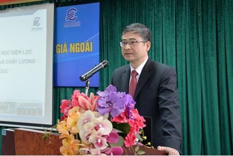 Ông Trương Huy Hoàng, Bí thư Đảng ủy - Hiệu trưởng Đại học Điện lực bị đề nghị xem xét trách nhiệm. (Ảnh qua laodong)