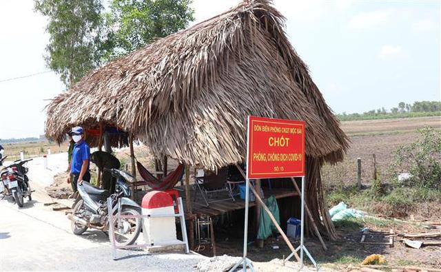 Chốt kiểm dịch đường biên số 15 Đồn Biên phòng Cửa khẩu quốc tế Mộc Bài, Tây Ninh (Ảnh qua vtv)
