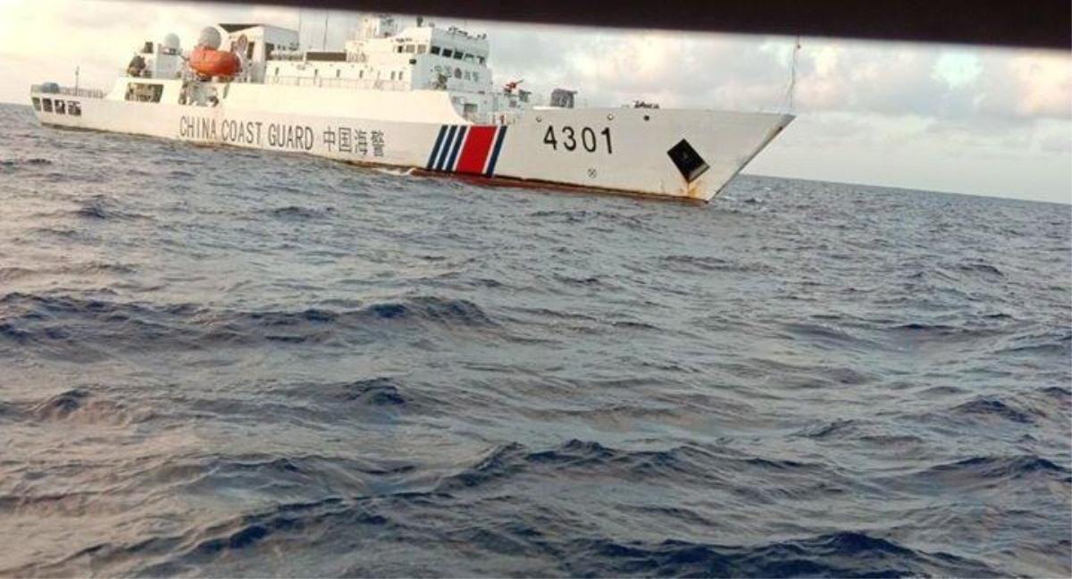 Tàu Trung Quốc đâm chìm tàu cá của ngư dân Thọ. (Ảnh qua vtc)