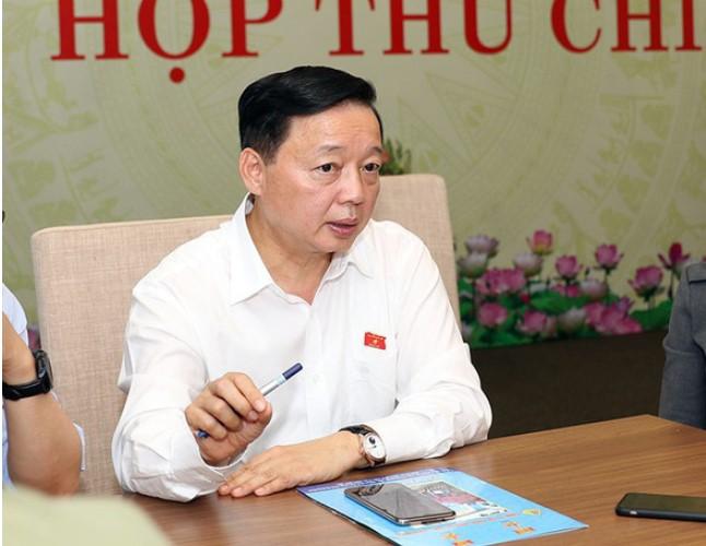 Bộ trưởng Trần Hồng Hà: Ai phát hiện người nước ngoài được cấp quyền sử dụng đất, báo tôi xử lý. (Ảnh qua tuoitre)