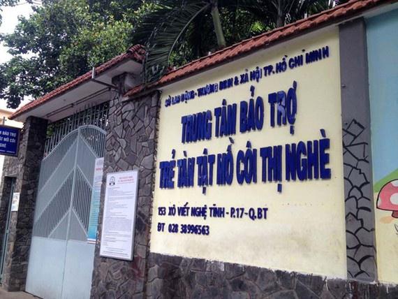 Trung tâm Bảo trợ Trẻ tàn tật mồ côi Thị Nghè (thuộc Sở Lao động Thương binh và Xã hội TP.HCM). (Ảnh qua Zing)