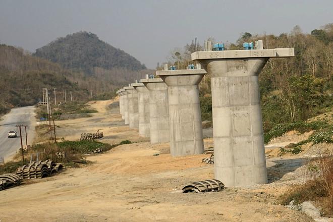 Dự án tuyến đường sắt Trung Quốc - Lào bị đình trệ vốn là một phần trong khuôn khổ BRI. (Ảnh qua thanhnien)