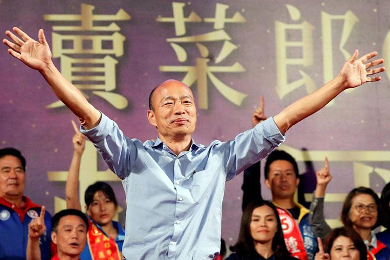 """Hàn Quốc Du đã tạo ra một cơn lốc """"Hàn lưu"""" trong cuộc bầu cử 9/1 của Đài Loan, giành được 890.000 phiếu bầu"""