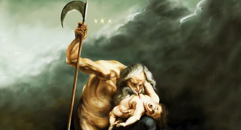 """Cronus còn có tên khác là """"Saturn"""", ông được biết đến là một vị Thần vô cùng hung ác và tàn bạo: sẵn sàng giết hại cha ruột và ăn thịt cả con đẻ của mình."""