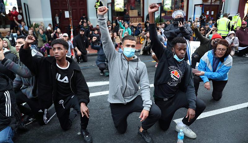 Người biểu tình tại New Zealand.