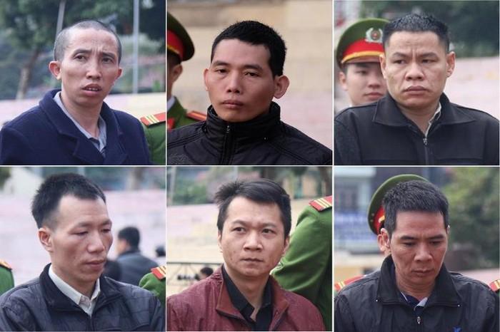 6 bị cáo lãnh án tử hình trong vụ bắt cóc, hiếp dâm, sát hại nữ sinh Cao Mỹ Duyên. (Ảnh qua news)
