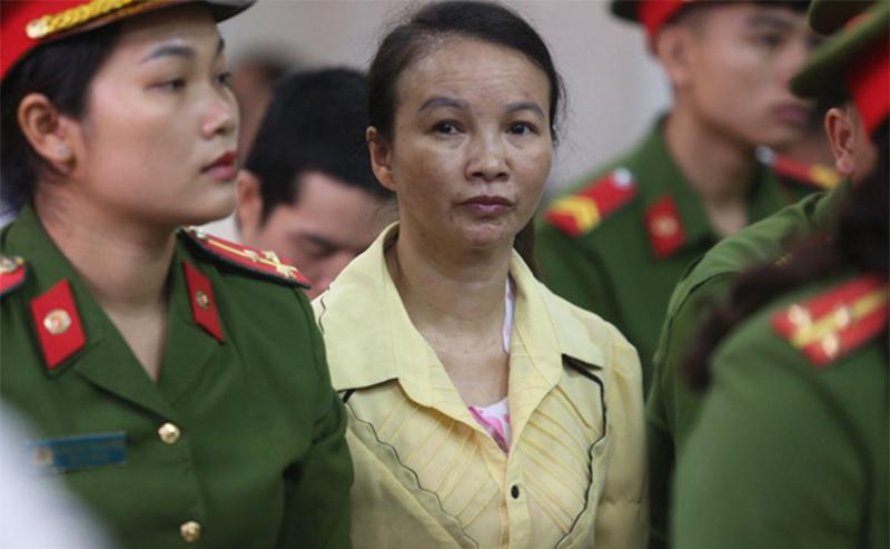 Bị cáo Trần Thị Hiền trong phiên xét xử sáng 15/6. (Ảnh qua tuoitre)