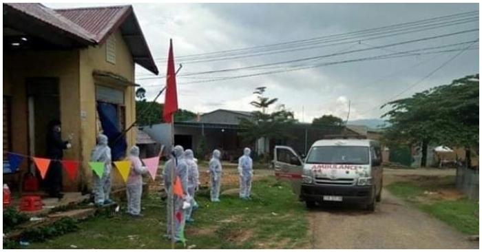 Toàn bộ cụm 2 xã Quảng Hòa (huyện Đắk G'Long) với 355 người dân được cách ly. (Ảnh qua ntdvn)