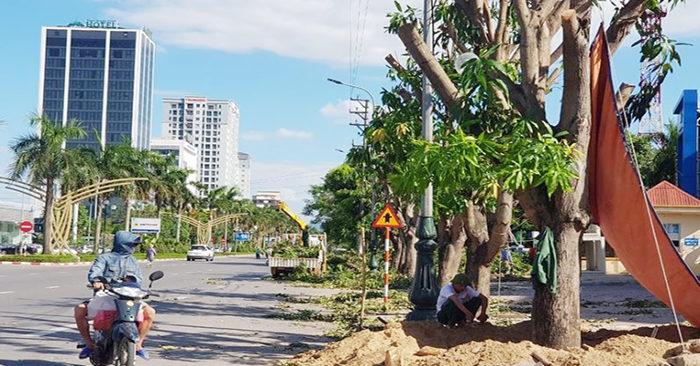Đại lộ Lê Nin đoạn triển khai dự án. (Ảnh qua laodong)