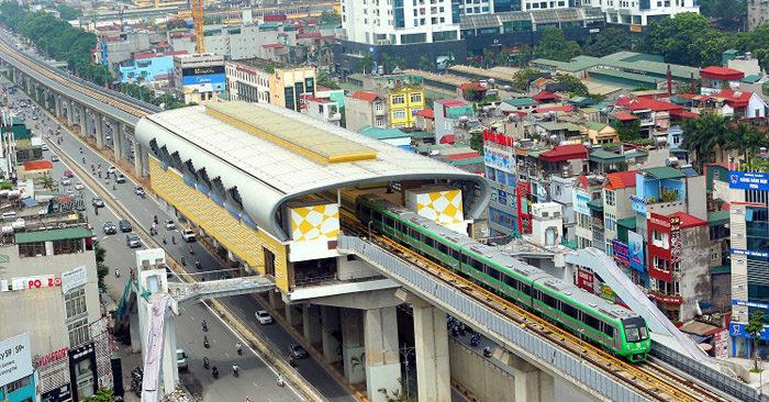 Đường sắt Cát Linh – Hà Đông 'chạy được trước đại hội là một may mắn lớn'. (Ảnh qua kinhtedothi)