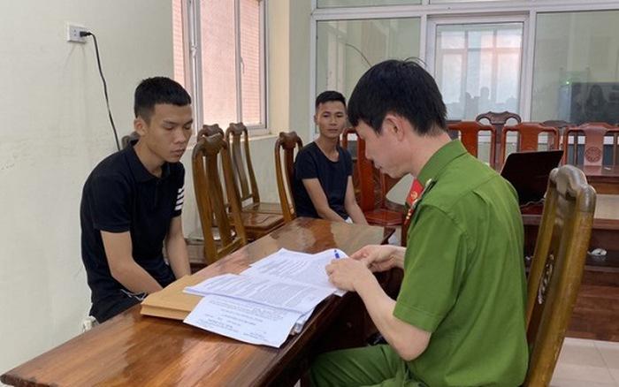 Phạm Xuân Thái làm việc với cơ quan công an. (Ảnh qua nld)