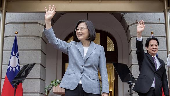 Lãnh đạo Đài Loan Thái Anh Văn trong lễ tuyên thệ nhậm chức lần 2 ngày 20/5. (Ảnh qua tuoitre)