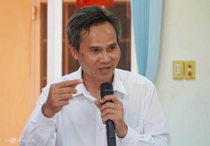 Thẩm phán Lê Viết Hòa, thành viên HĐXX vụ án ông Lê Hữu Phước. (Ảnh qua vnexpress)