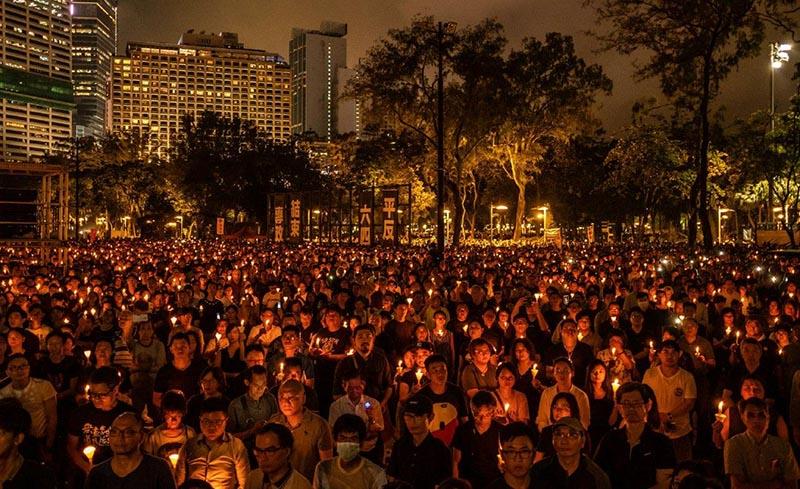 Hàng ngàn người HK tập trung tưởng niệm cuộc thảm sát Thiên An Môn vào năm 2019.