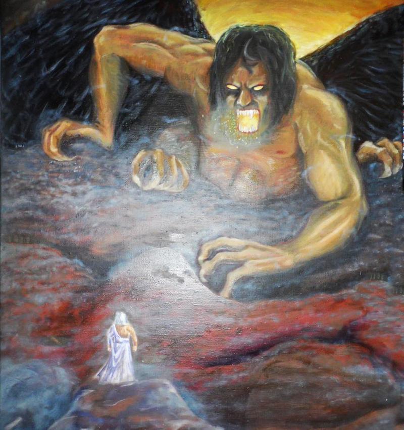 Zeus và Typhon giao chiến.