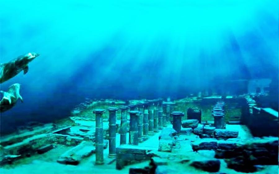 Thành phố cổ Dwarka10.000 năm tuổi chìm dưới đại dương Tây Ấn với độ sâu 39m