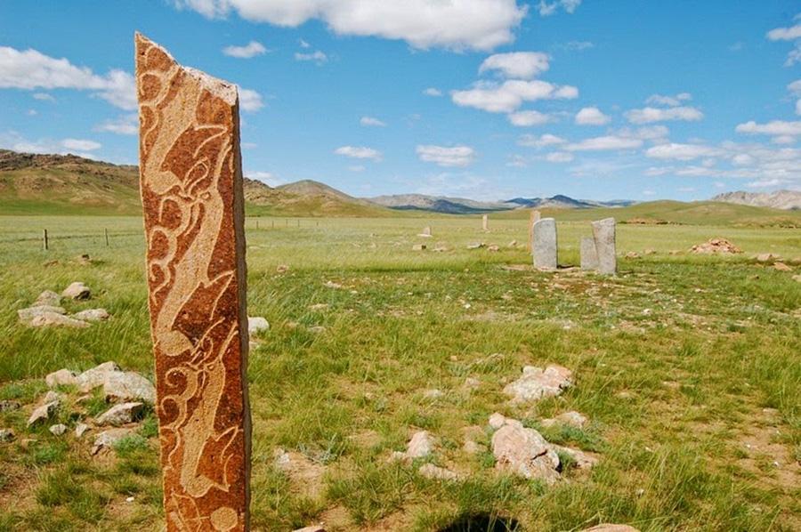Khu di tích Đá Nai cổ gần Mörön, Mông Cổ.