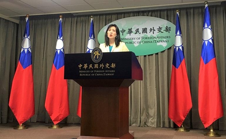 Người phát ngôn Bộ Ngoại giao Đài Loan Âu Giang An  phát biểu tại một cuộc họp báo ở Đài Bắc, Đài Loan, ngày 11/2/2020