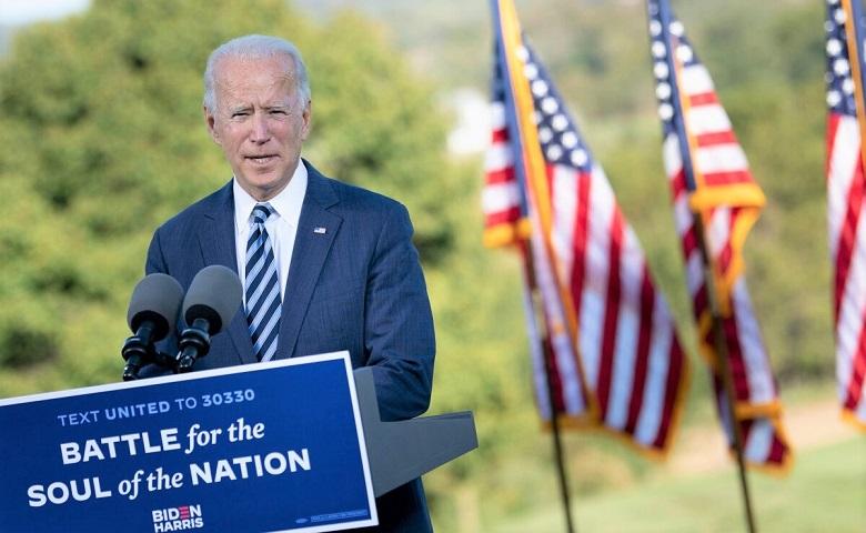 Cựu Phó Tổng thống Hoa Kỳ Joe Biden phát biểu tại Lodges ở Gettysburg ngày 6/10/2020