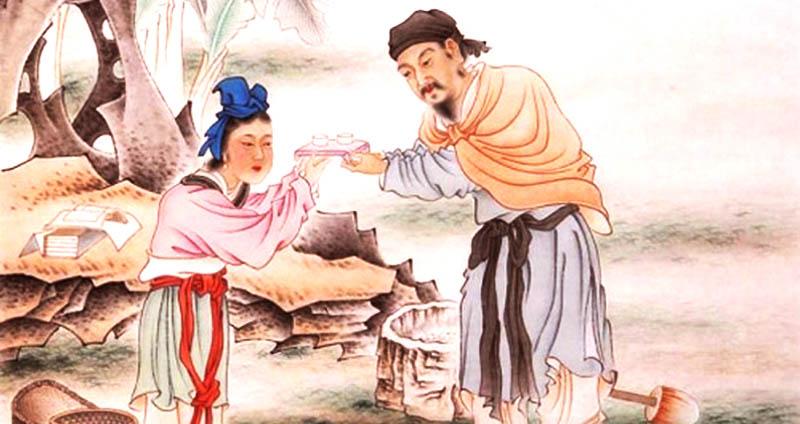 Đàn ông và phụ nữ thời xưa không thể trực tiếp trao và nhận vật phẩm bằng tay, đó là cư xử đúng mực