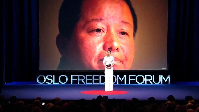 Cảnh Cách – con gái của luật sư Cao phát biểu về cha trong diễn đàn Oslo