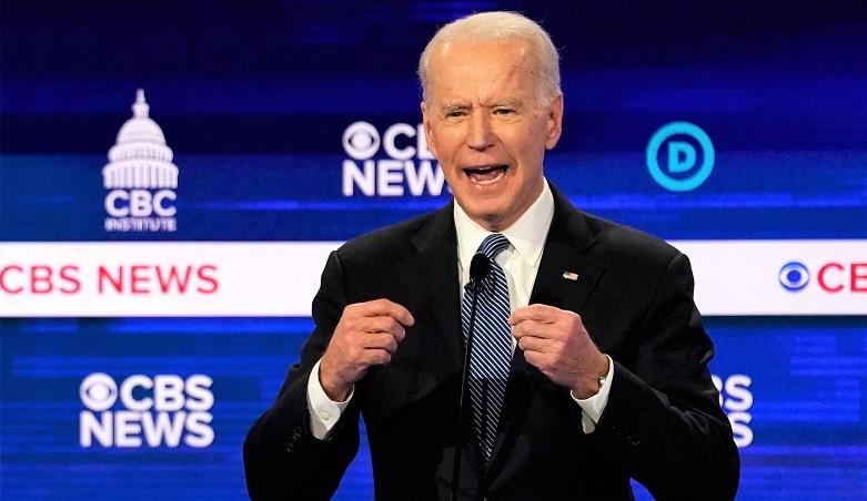 Cựu Phó Tổng thống Joe Biden tại cuộc tranh luận sơ bộ của đảng Dân chủ ở thành phố Charleston, South Calorina vào ngày 25/2/2020