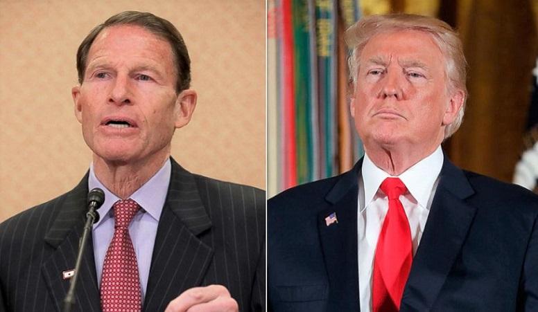 Tổng thống Mỹ Donald Trump và Thượng nghị sĩ của bang Connecticut - Richard Blumenthal